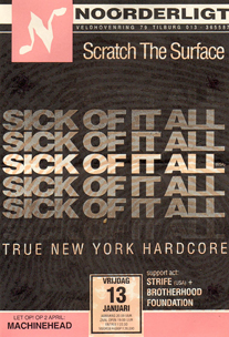 Sick Of It All - 13 jan 1995